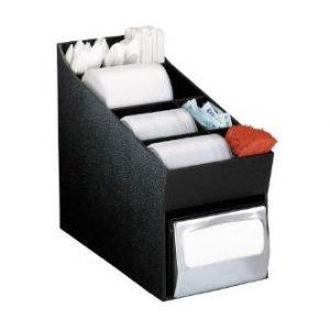 restaurant equipment and supply Dispense-Rite NLO Napkin, Lid & Condiment Organizer