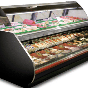 restaurant equipment and supply 6′ – Meat / Seafood Refrigerated Service Case – Over/Under – Hussmann – CR3-MREM