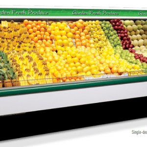 refrigerated produce display case