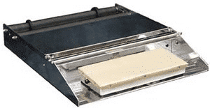 restaurant equipment and supply Heat Seal 825A 2 ROLL TABLE TOP WITH MOUNTING AXLE