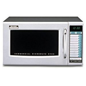 restaurant equipment and supply Sharp R21LVF Commercial Microwave