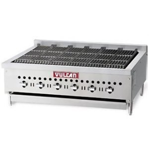 restaurant equipment and supply Vulcan VCCB36 36″ 6-Burner Radiant