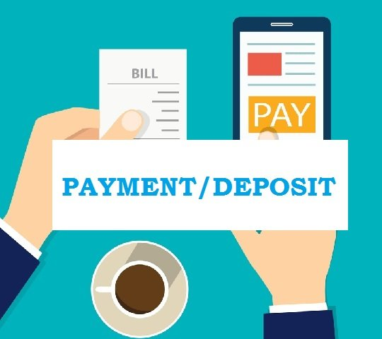 payment and deposit